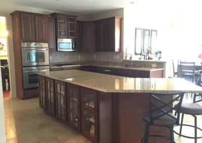 kitchen cabinet repaint job before image